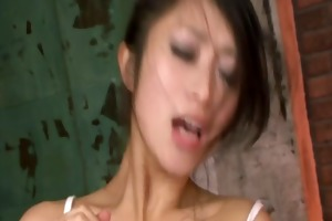 perverted chick gagging random jocks and cum-hole