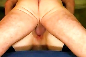aged pair garter butt take up with the tongue