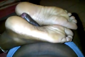 dark chocolate feet