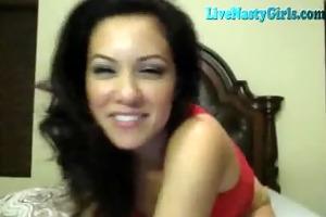 breathtaking brunette hair great livecam show