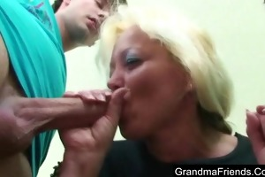 aged teacher drilled by