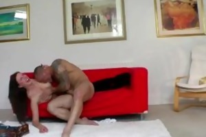 hot bitch drilled doggy position on the floor by