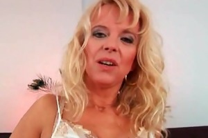 horny granny receives screwed by hard rod
