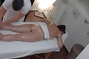 breasty mother i acquires drilled during massage