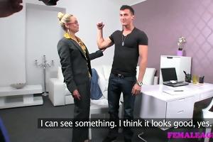 femaleagent nervous naive dude versus
