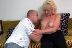 hawt youthful boy fucking granny with strap-on