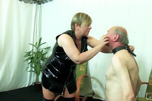 the sadist granny vi - face slapping, caning,