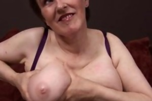 sixty year old lady showing of her large part3
