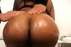 cute ebony plumper beauty eyes has a soft spot