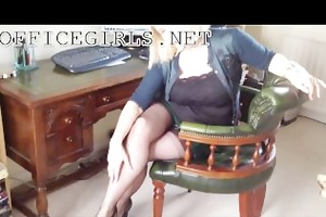 lewd mother i doxy secretary in fully fashioned