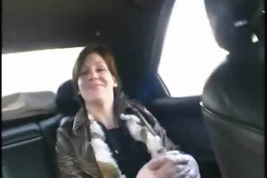 lea, french milf, banged in a public forest