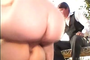 oriental aged opens her throat for cumshot