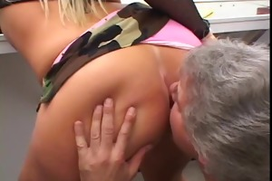 sexy blonde with flawless mounds is a cocksucking