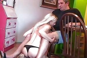 mature blond masturbating