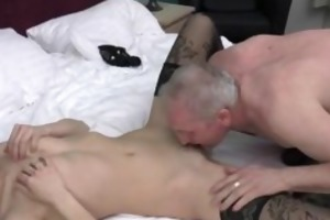 lewd grey old man can licking a constricted part6