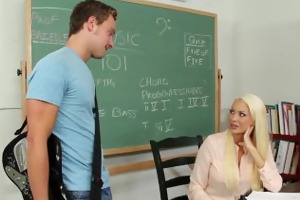 blond teacher summer brielle fuck in classroom