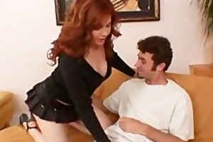 redhead mama engulfing and fucking