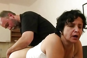 granny acquires her curly gap fille...