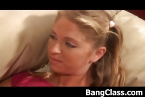 hawt schoolgirl receives drilled doggy position