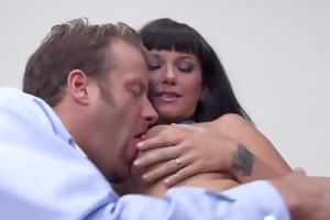 carrie ann blackmails her way into his panties
