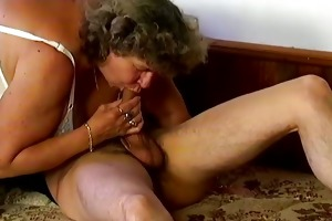 large chubby granny blowing penis