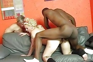 pale cuckold wife with tattoes receives shagged
