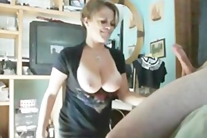 busty chick deepthroats boyfriend