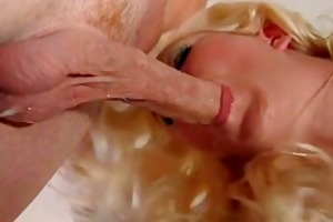 miniature titted golden-haired mom engulf and