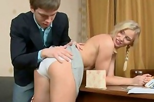 breasty teen copulates with older cock