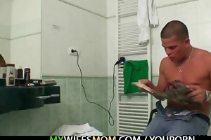 he is acquires busted fucking his gfs old mamma