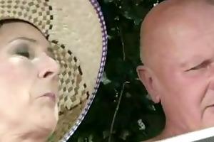 granny acquires a cumshot!