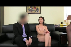femaleagent. anal creampie for cute romanian woman