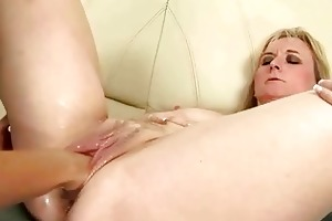 older blond acquires anal fisted