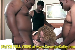 creampie from super hung darksome college student