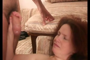 older non-professional wife oral sex bang with