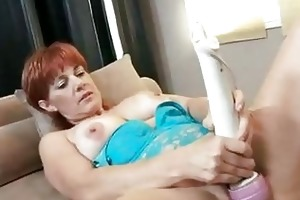 red hawt momma calliste pounds her vagina with
