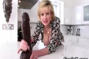 wicked mature playing with huge vibrator