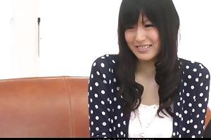 nozomi koizumi strips s garb and gives an