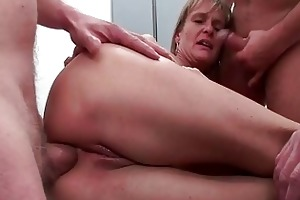 ass drilled aged wench acquires five strong rods