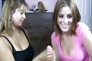 blond d like to fuck shows her daughter how to do