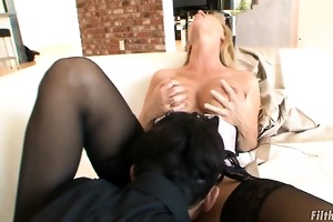 dumb old golden-haired whore needs cock!