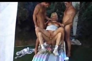blond older expecting for orging