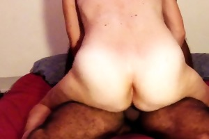 unshaved non-professional wife real big o taking