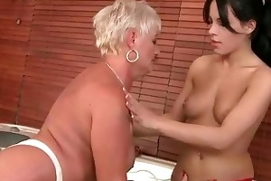 grannies vs youthful gals hard sex compilation