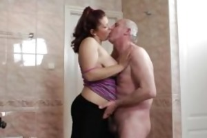 lascivious grand-dad can having sex with cute