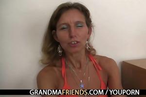 horny granny takes knobs