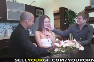 sell your gf - staying home for her st paid fuck