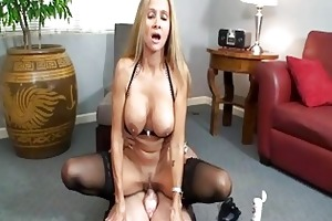 kinky golden-haired mother i in sluty underware