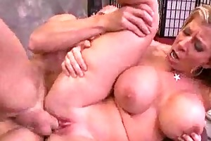 older bitch with large tits has a hardcore d like