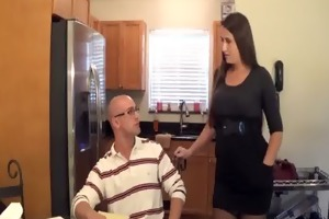 madisin lee in milf mama helps son with his